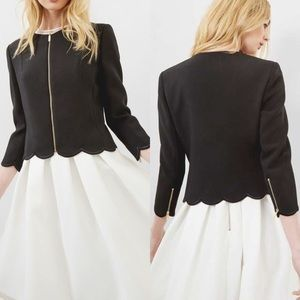 Ted Baker Scallop Detail Cropped Jacket